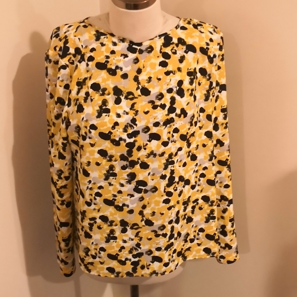 H&M Tops - H&M yellow and black blouse